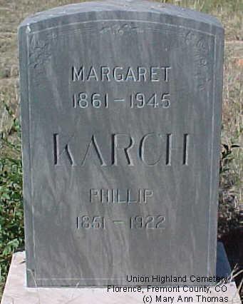 KARCH, PHILLIP - Fremont County, Colorado | PHILLIP KARCH - Colorado Gravestone Photos