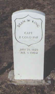 KING, DEAN W. - Fremont County, Colorado   DEAN W. KING - Colorado Gravestone Photos