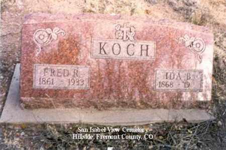KOCH, FRED R - Fremont County, Colorado | FRED R KOCH - Colorado Gravestone Photos