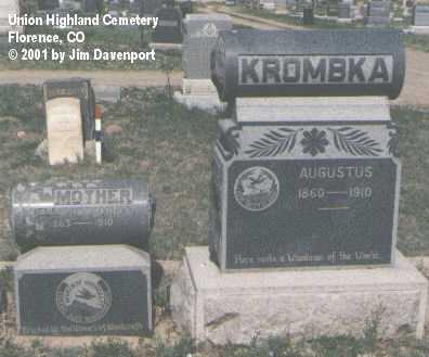 KROMBKA, AUGUSTUS - Fremont County, Colorado   AUGUSTUS KROMBKA - Colorado Gravestone Photos
