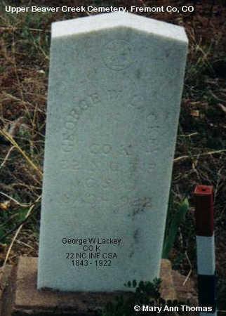 LACKEY, GEORGE W. - Fremont County, Colorado   GEORGE W. LACKEY - Colorado Gravestone Photos