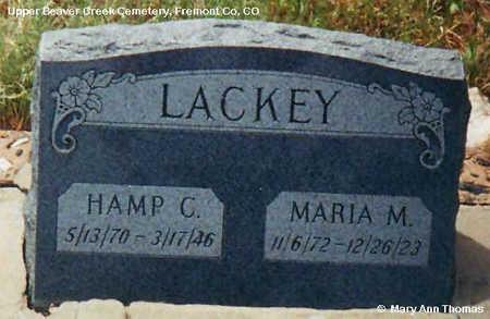 LACKEY, HAMP - Fremont County, Colorado   HAMP LACKEY - Colorado Gravestone Photos