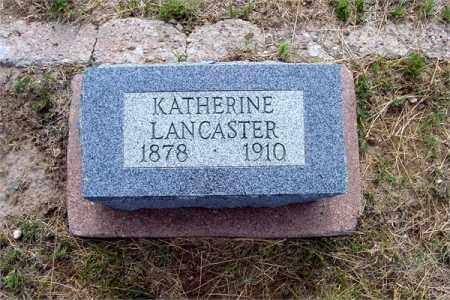 LANCASTER, KATHERINE - Fremont County, Colorado | KATHERINE LANCASTER - Colorado Gravestone Photos