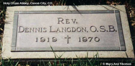 LANGDON, DENNIS - Fremont County, Colorado | DENNIS LANGDON - Colorado Gravestone Photos