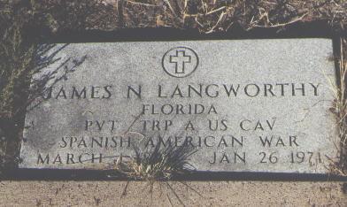 LANGWORTHY, JAMES N. - Fremont County, Colorado | JAMES N. LANGWORTHY - Colorado Gravestone Photos