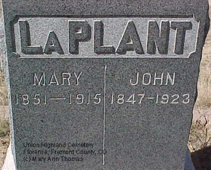 LAPLANT, JOHN - Fremont County, Colorado   JOHN LAPLANT - Colorado Gravestone Photos