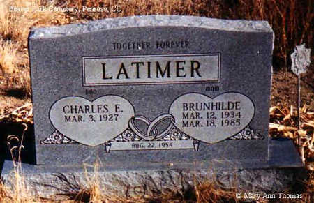 LATIMER, BRUNHILDE - Fremont County, Colorado | BRUNHILDE LATIMER - Colorado Gravestone Photos