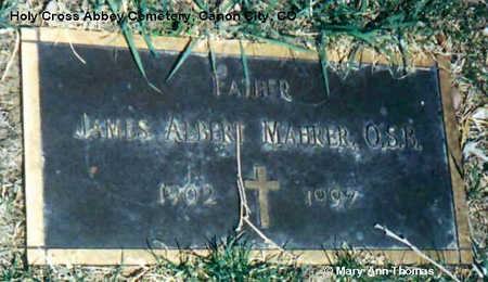 MAHRER, JAMES ALBERT - Fremont County, Colorado | JAMES ALBERT MAHRER - Colorado Gravestone Photos
