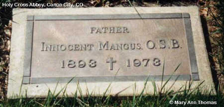 MANGUS, INNOCENT - Fremont County, Colorado | INNOCENT MANGUS - Colorado Gravestone Photos