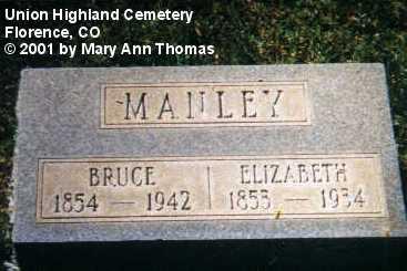 MANLEY, BRUCE - Fremont County, Colorado | BRUCE MANLEY - Colorado Gravestone Photos