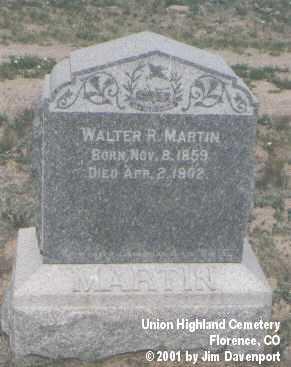 MARTIN, WALTER R. - Fremont County, Colorado | WALTER R. MARTIN - Colorado Gravestone Photos