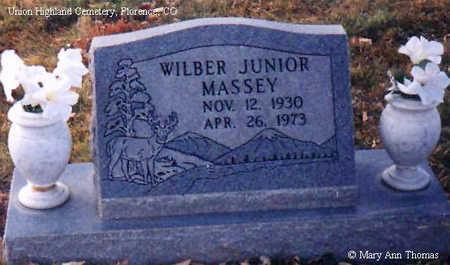 MASSEY, WILBER JUNIOR - Fremont County, Colorado | WILBER JUNIOR MASSEY - Colorado Gravestone Photos