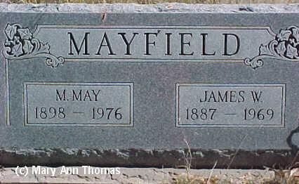 MAYFIELD, JAMES W. - Fremont County, Colorado   JAMES W. MAYFIELD - Colorado Gravestone Photos