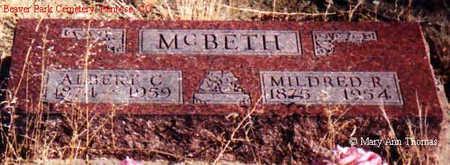 MCBETH, ALBERT C. - Fremont County, Colorado | ALBERT C. MCBETH - Colorado Gravestone Photos