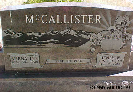 MCCALLISTER, HENRY W. - Fremont County, Colorado | HENRY W. MCCALLISTER - Colorado Gravestone Photos