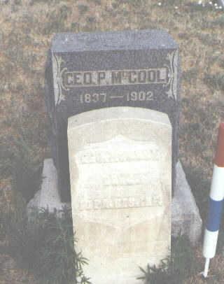MCCOOL, GEO. P. - Fremont County, Colorado   GEO. P. MCCOOL - Colorado Gravestone Photos