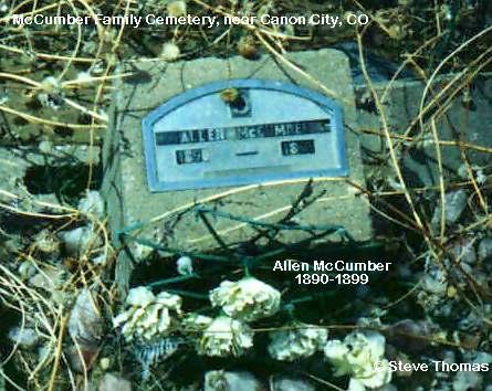 MCCUMBER, ALLEN - Fremont County, Colorado | ALLEN MCCUMBER - Colorado Gravestone Photos
