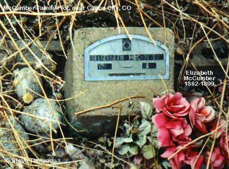 MCCUMBER, ELIZABETH - Fremont County, Colorado   ELIZABETH MCCUMBER - Colorado Gravestone Photos