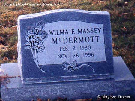 MCDERMOTT, WILMA F. - Fremont County, Colorado | WILMA F. MCDERMOTT - Colorado Gravestone Photos