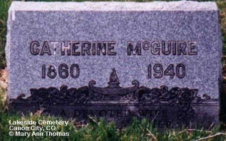 MCGUIRE, CATHERINE - Fremont County, Colorado | CATHERINE MCGUIRE - Colorado Gravestone Photos
