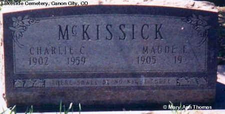 MCKISSICK, MAUDE E. - Fremont County, Colorado | MAUDE E. MCKISSICK - Colorado Gravestone Photos