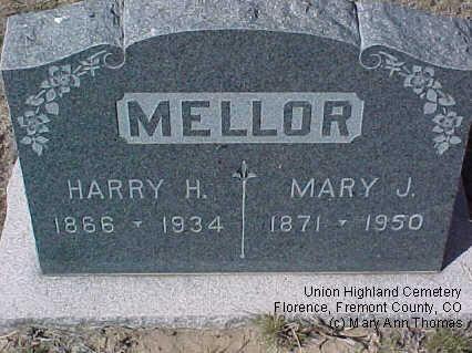 MELLOR, HARRY H. - Fremont County, Colorado | HARRY H. MELLOR - Colorado Gravestone Photos