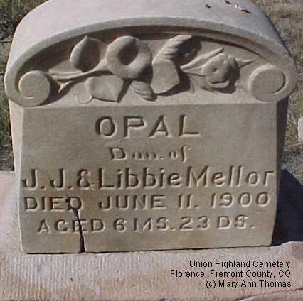 MELLOR, OPAL - Fremont County, Colorado | OPAL MELLOR - Colorado Gravestone Photos