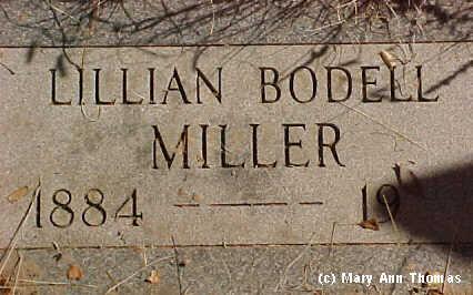 BODELL MILLER, LILLIAN - Fremont County, Colorado | LILLIAN BODELL MILLER - Colorado Gravestone Photos