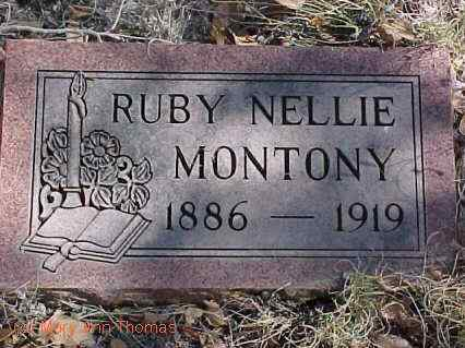 MONTONY, RUBY NELLIE - Fremont County, Colorado | RUBY NELLIE MONTONY - Colorado Gravestone Photos