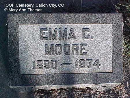 MOORE, EMMA C. - Fremont County, Colorado | EMMA C. MOORE - Colorado Gravestone Photos