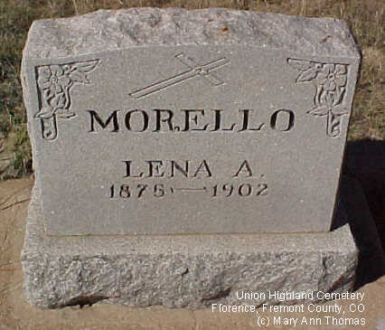 MORELLO, LENA A. - Fremont County, Colorado | LENA A. MORELLO - Colorado Gravestone Photos