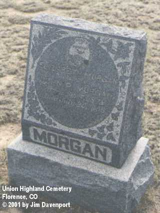 MORGAN, ELIZABETH - Fremont County, Colorado | ELIZABETH MORGAN - Colorado Gravestone Photos