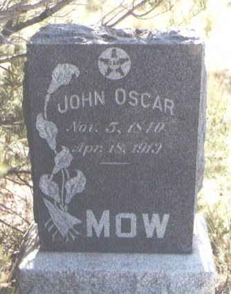 MOW, JOHN OSCAR - Fremont County, Colorado | JOHN OSCAR MOW - Colorado Gravestone Photos