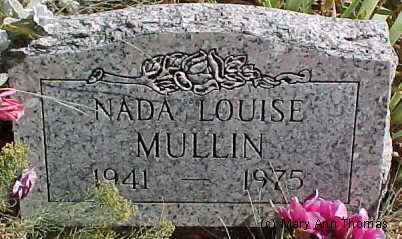 MULLINS, NADA LOUISE - Fremont County, Colorado | NADA LOUISE MULLINS - Colorado Gravestone Photos