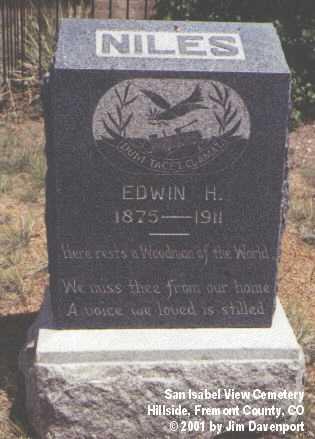 NILES, EDWIN H. - Fremont County, Colorado | EDWIN H. NILES - Colorado Gravestone Photos