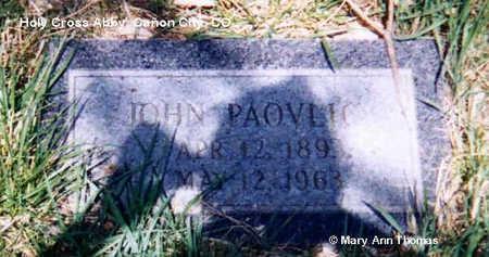 PAOVLIC, JOHN - Fremont County, Colorado | JOHN PAOVLIC - Colorado Gravestone Photos