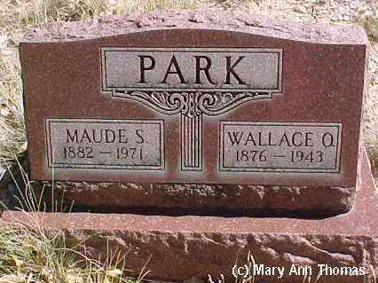 PARK, MAUDE S. - Fremont County, Colorado | MAUDE S. PARK - Colorado Gravestone Photos