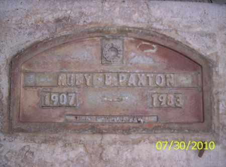 PAXTON, RUBY B - Fremont County, Colorado   RUBY B PAXTON - Colorado Gravestone Photos