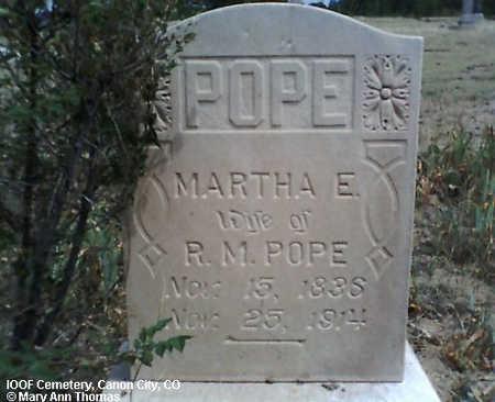 POPE, MARTHA E. - Fremont County, Colorado | MARTHA E. POPE - Colorado Gravestone Photos