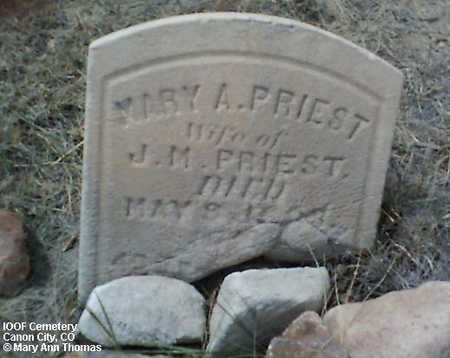 PRIEST, MARY A. - Fremont County, Colorado | MARY A. PRIEST - Colorado Gravestone Photos