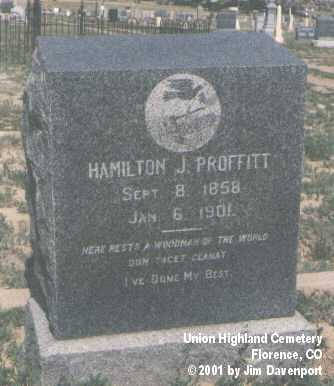 PROFFITT, HAMILTON J. - Fremont County, Colorado | HAMILTON J. PROFFITT - Colorado Gravestone Photos