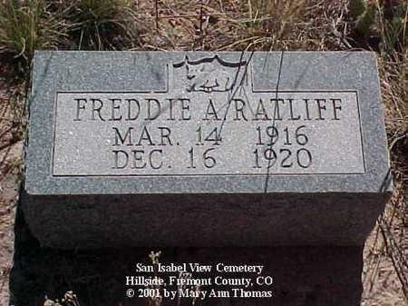 RATLIFF, FREDDIE A. - Fremont County, Colorado | FREDDIE A. RATLIFF - Colorado Gravestone Photos