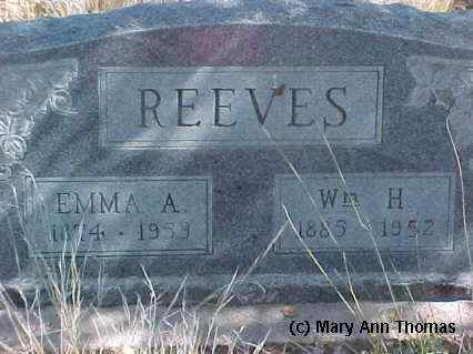 REEVES, WM. H. - Fremont County, Colorado | WM. H. REEVES - Colorado Gravestone Photos