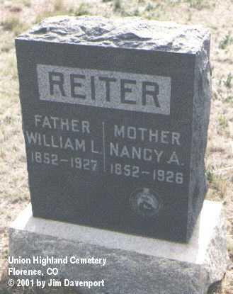 REITER, WILLIAM L. - Fremont County, Colorado | WILLIAM L. REITER - Colorado Gravestone Photos