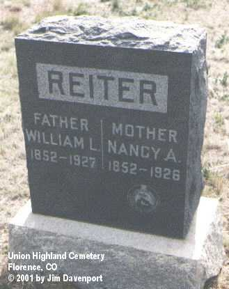 REITER, NANCY A. - Fremont County, Colorado | NANCY A. REITER - Colorado Gravestone Photos
