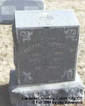 RIPPERTON, MARETTE W. - Fremont County, Colorado   MARETTE W. RIPPERTON - Colorado Gravestone Photos