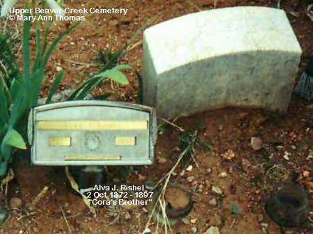 RISHEL, ALVA J. - Fremont County, Colorado | ALVA J. RISHEL - Colorado Gravestone Photos