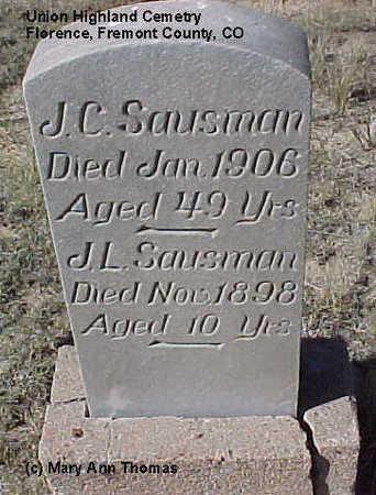 SAUSMAN, J. L. - Fremont County, Colorado | J. L. SAUSMAN - Colorado Gravestone Photos