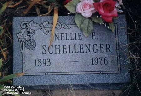 SCHELLENGER, NELLIE E. - Fremont County, Colorado | NELLIE E. SCHELLENGER - Colorado Gravestone Photos