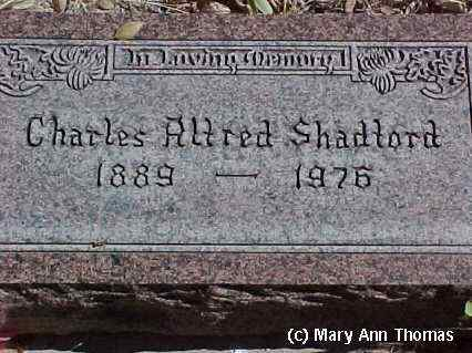 SHADFORD, CHARLES ALFRED - Fremont County, Colorado | CHARLES ALFRED SHADFORD - Colorado Gravestone Photos